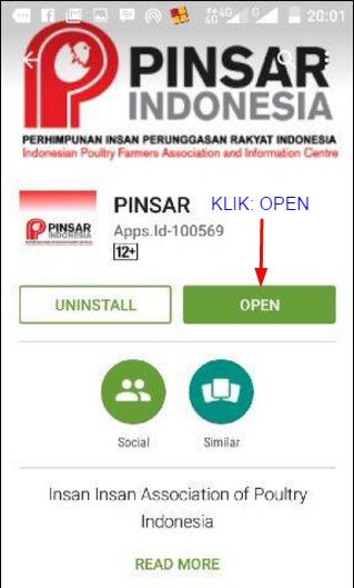Aplikasi Android PINSAR