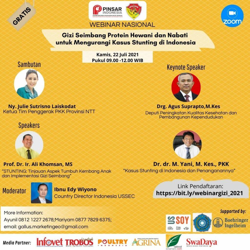 WEBINAR NASIONAL  Gizi Seimbang Protein Hewani dan Nabati untuk Mengurangi Kasus Stunting di Indonesia