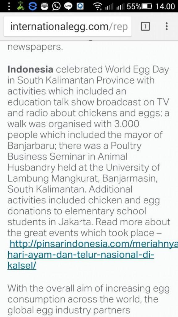 berita WED di international egg
