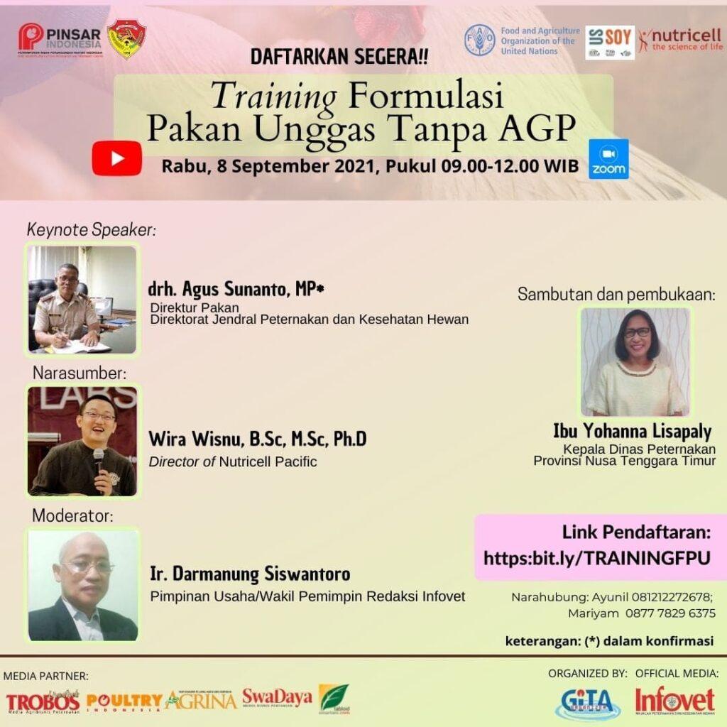 ONLINE TRAINING  Formulasi Pakan Unggas Tanpa Antibiotic Growth Promoter (AGP)
